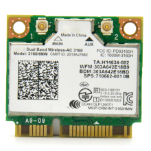 For Intel 3160ac 433Mbps 802.11ac Mini PCI Express WiFi Wireless Adapter PCi-e WLAN Card + Bluetooth 4.0 for Asus/Dell/Acer/Sony