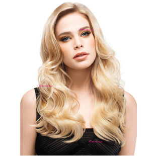 long wavy blonde synthetic wigs peruca,cheap quality ladies full hair wigs,central part side womens hair wig<br><br>Aliexpress
