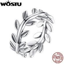 Brand 2017 New Collection Authentic Laurel Wreath Laurel Leaves Ring 100% Fine 925 Sterling Silver Jewelry 7156