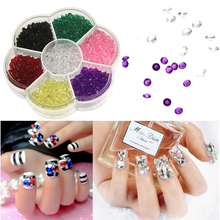 4.5mm Nail Art Tip Wheel Crystal Rhinestones Micro Diamonds Acrylic Mini 3D Decoration Tools Ramdom Color - Beautiful Encounter with you store