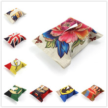 Sales Promotion Cheap Linen Tissue Box Covers Covers Facial Tissue Case Tissue Paper Box(China)