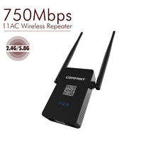 750Mbps Wireless WiFi Repeater Amplifier/signal booster 2.4G/5.8G Dual Band Wireless Router Wifi Range Extender Antenna Roteador