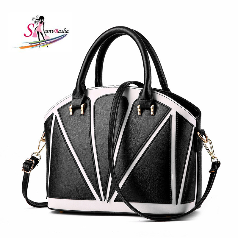 Women Sale Interior Compartment Patchwork Hard 2017 New Womens Pu Leather Bag European &amp; American Stitching Handbag Crossbody<br>