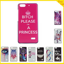 Luxury Cute Painted Plastic Hard Cell Phone Cover Case For Huawei Honor 4C C8818 Case Cartoon  Back Cover For Huawei G Play Mini