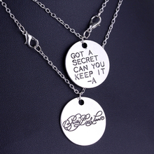 2016 New Arrival Television Pretty Little Liars Got A Secret Can You Keep It Message Pendant Necklace 1 Pair Drop Shipping