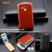 IMUCA Brand New Flip Leather Case For samsung galaxy trend Duos S7562 GT-S7562 Cover Phone Pouch Bag Luxury Leather Cases(China)