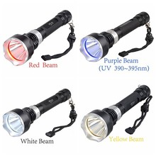 New arrived scuba LED Underwater Diving led Flashlight Torch diving rechargeable18650 battery powered not included