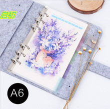 A5 A6  Spiral Notebook Loose Leaf Transparent PP Separator Pages Deer  5 sheets Separate Match filofax Kikkik