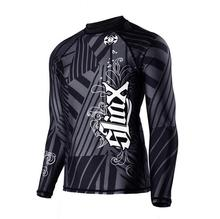 Rash Guard men Long Sleeve Swim Shirts Rash Guard Swimwear Surfing Clothes polyester Fiber Surf Sun Protective Clothing