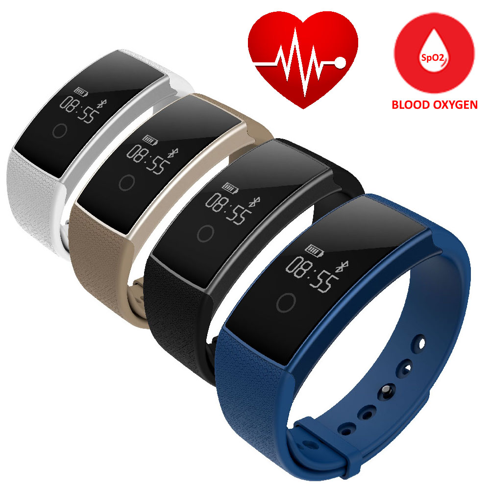 image for H09 Bluetooth Smart Band Heart Rate Monitor Blood Pressure Fitness Tra