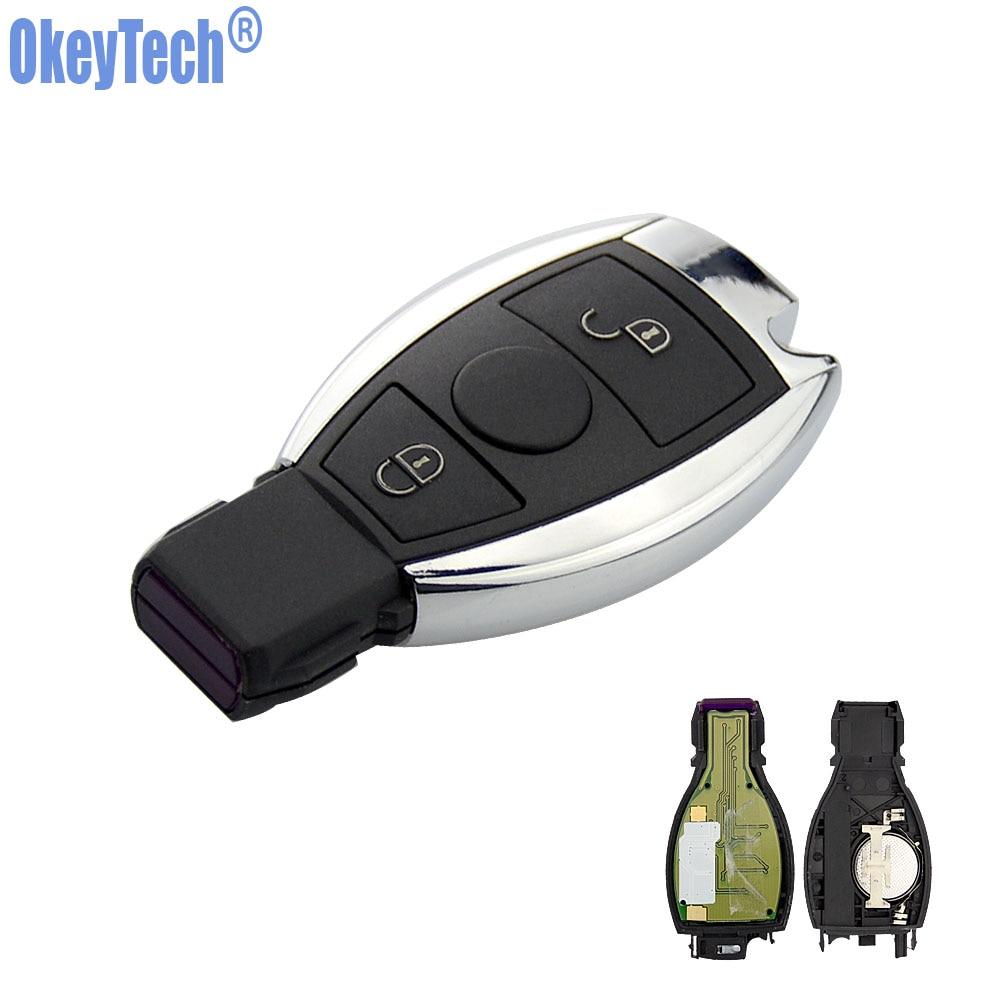 OkeyTech 2 Buttons 315MHz 433MHz Car Smart Remote Key Mercedes Benz 2000+ BGA Type Auto Replacement Key Fob MB Auto Key