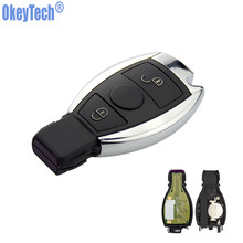OkeyTech 2 Buttons 315MHz 433MHz Car Smart Remote Key Mercedes Benz 2000+ BGA Type Auto Replacement Key Fob MB Auto Key