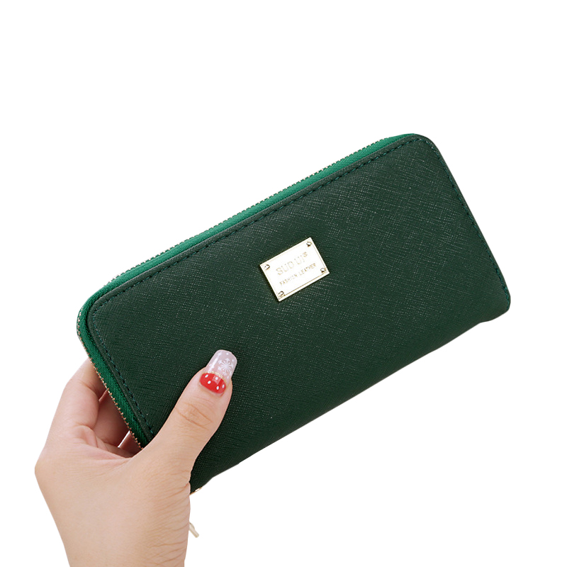 2017 Hot Sale Leather Women Long Wallets Ladies Zipper Coin Purse Female Credit Card Wallet Purses Money Bag Free Shipping<br><br>Aliexpress