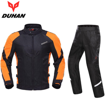 DUHAN Summer Men's Motorcycle Jacket Motocross Clothing And Motocross Pants  With 5PCS Protector Gear M L XL XXL