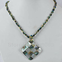 Fashion Jewelry New Zealand Abalone Shell Bead Necklace 16 Inch jewelry Free shipping WF340
