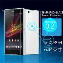 Ultra Thin 0.2mm Explosion-Proof Front & Back Screen Protector Tempered Glass  Film for Sony Xperia Z Ultra XL39H +Retail Box
