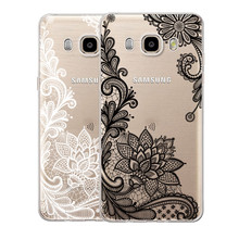 Sexy Lace Mandala Vintage Flower Cover Back For Samsung Galaxy S3 S4 S5 S6 S7 Edge S8 Plus A3 A5 2016 2015 2017 J2 J3 J5 j7 Case