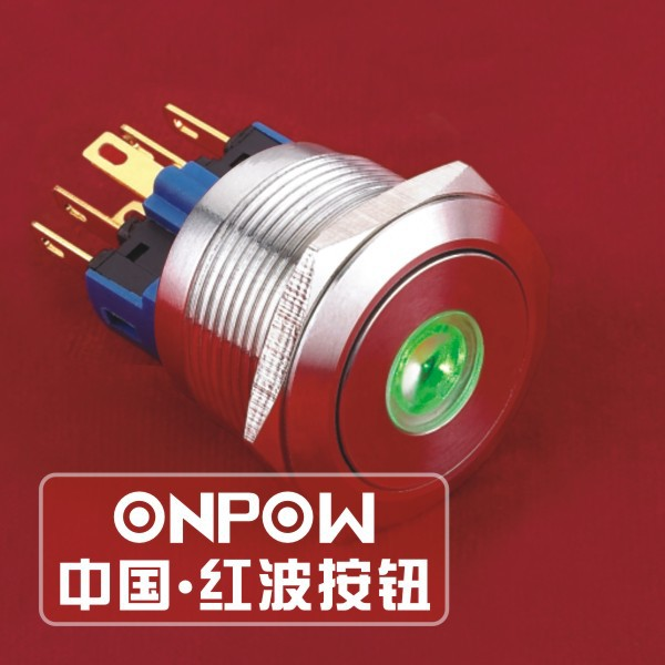 ONPOW 22mm 1NO1NC momentary 6V Green LED stainless steel dot illuminated Pushbutton switch (GQ22-11D/G/6V/S) CE, RoHS   CE, ROHS<br><br>Aliexpress