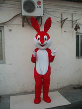summer hot sale!! New Adult Red Rabbit mascot costume with suits shoes  party dress Halloween costume