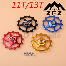 Rear Derailleur Pulley 11T 13T Aluminum alloy bicycle rear derailleur guide pulley bearing(China)