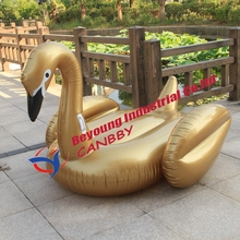 DHL SHIPPING giant inflatable swan+gold inflatable swan float pool 200cm+gold swan pool floats+flamingo+unicorn+Pegasus+pizza(China)