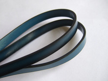 1M Long Dark Turquoise 10mm Flat PU Leather Cord Bracelet Necklace Making Cord Jewelry Findings(China)