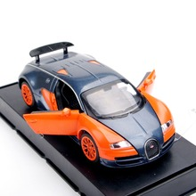 Red and Orange 1/32 Bugatti Veyron Alloy Diecast Car Model Boys Toys Gifts With Light Sound  Pull Back Kids Gifts Collections