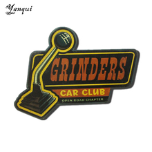 Grinders Car Club Open Road Chapter Metal Plaque For Bar Pub House Shop Vintage Home Decor Retro Wall Painting Tin Signs TP-095