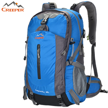 Creeper New Travel Back pack Outdoor Hiking Bag Blue Black Big Volume backpacking packs High Quality Camping Climb Backpacks 45L(China)