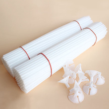 10pcs white 30cm Balloon Stick Pole Plastic Rods Holder Cup Birthday Party christmas Wedding Balloons Decoration Accessories