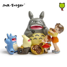 Mr.Froger Picnic Miniature Garden Mini Garden Decoration Figurines Resin Figure Figura Toys for Children Japanese Action Figure