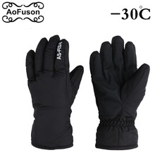 Winter snowboard Finger gloves Outdoor snow Snowmobile Riding motorcycle women&men sport Gloves Windproof Waterproof(China)