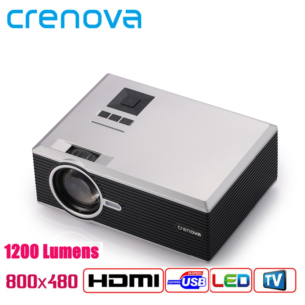 Crenova XPE470 1200 Lumens Free HDMI Cable LED Mini Projector 1000:1 Contrast Support 1920x1080P Home Cinema Proyector TV Beamer<br><br>Aliexpress