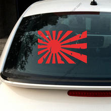 Japanese Rising Sun distressed Variant flag of Japan Naval Car Decal Sticker vinyl, choose size and color!