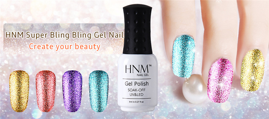HNM 8ML Glitter UV Gel