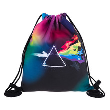 Wholesale POKEFLOYD 3D Printing Pokemon Backpack women Mochila Escolar Game Men's Backpack for Teenagers Drawstring Bags
