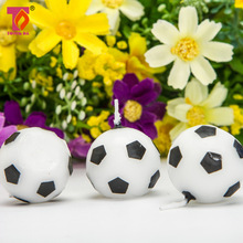ZLJQ 6pcs Birthday Cake Candle Football Candle Birthday Decorative Wedding Candles Party Supplies 7D