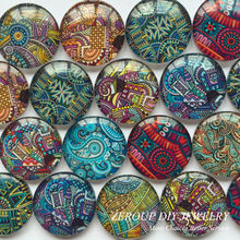ZEROUP 25mm round photos glass cabochon mixed pattern fit cameo base setting jewelry components 20pcs/lot TP-155