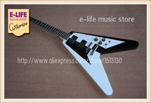 Custom Shop Limited Edition Electric Guitar Flying V Black & White In Stock For Sale