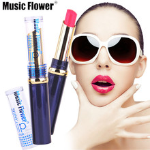 Music Flower 12 Colors to Choose Glossy Lip Rouge matte lipstick Fashion Women Makeup Waterproof Cosmetics lips mc lipstick