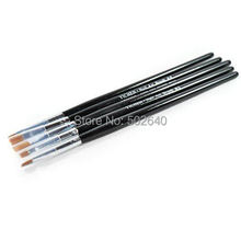 Wholesale Free Shipping 5pcs/set Nail Gel Brush Set Your Best Nail Art Brush Supplier
