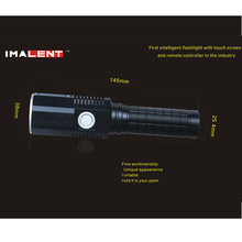 IMALENT EMT16 Waterproof XM-L2 Screen Remote Controller LED Light Torch Flashlight For Outdoor Sports