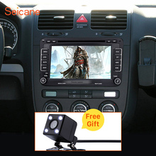 2 Din 7 inch Universal Radio DVD Player GPS Navigation Head Unit for 2003-2009 VW Volkswagen Golf Plus Bluetooth SD Aux IPOD RDS