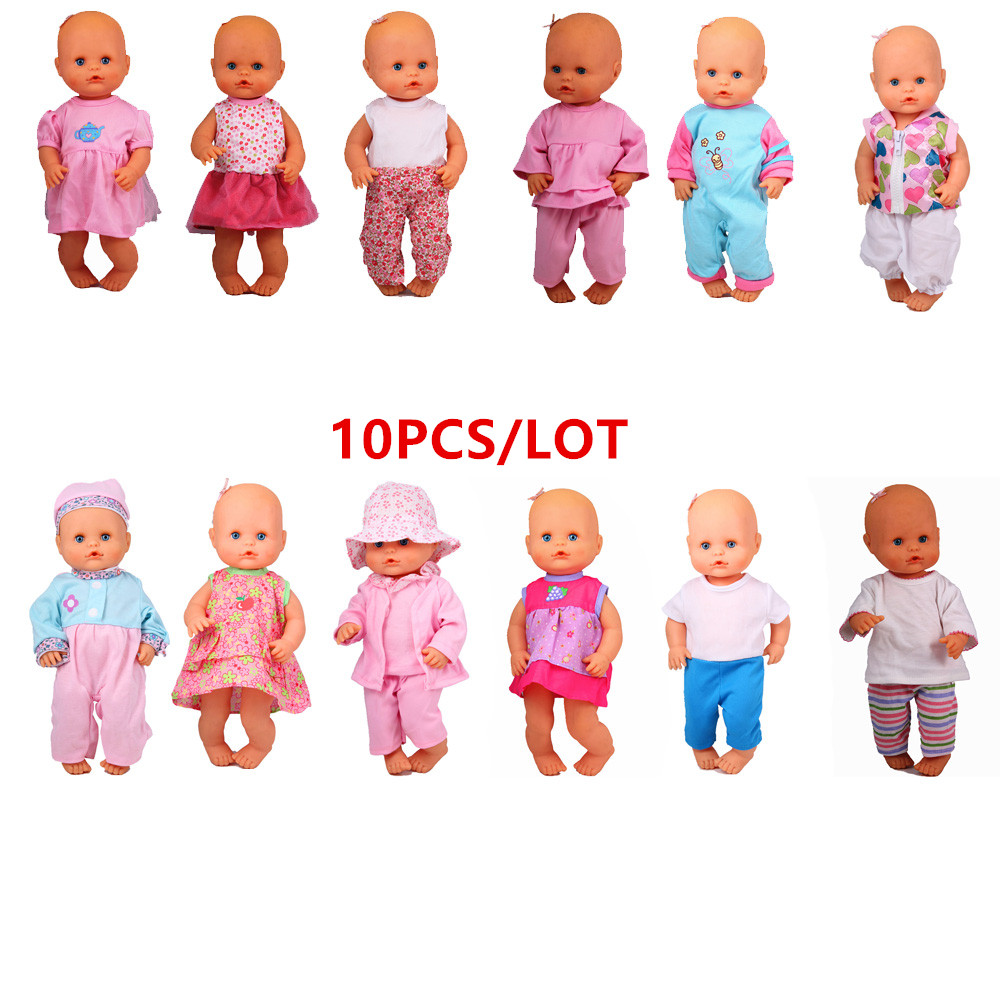 10 Style Dress Doll Clothes Fit 35cm-42cm Nenuco Doll Hermanita Doll Accessories