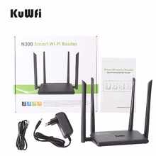 N300 Wireless WIFI  Router 300Mbps Wifi Range Extender WPS Button with 4 Antennas Wifi Repeater IP QoS Support Phone Smart APP