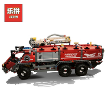 Technic 42068 City Mechanical Fire Accident the Rescue Vehicle Legoinglys Building Blocks Bricks Child Toys Lepin Technic 20055