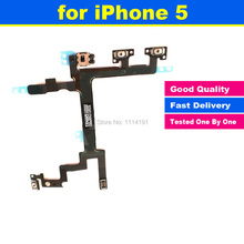 High Quality for iPhone 5 5G Power Mute Volume Button Switch Connector On Off Flex Cable Ribbon