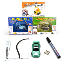 LFAYER retail box package MINI Magic Pen Inductive Fangle vechicle Children's CAR Truck Tank Toy Car