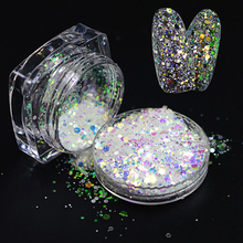 1Pc Bright Colorful 3D Glitter Powder Shining Laser Mixed Glitter Nail Art Decoration DIY Dazzling Beauty Craft Nails LAT01-04