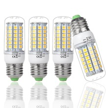 HOT SALE !!! 4XE27 69 leds SMD 5050 LED bulb lamp ,Warm white/white,9W 220V-240V 5050 SMD e27 LED Corn chandelier Light(China)